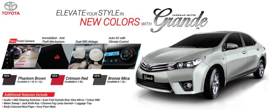New Toyota Corolla Altis Grande in Pakistan